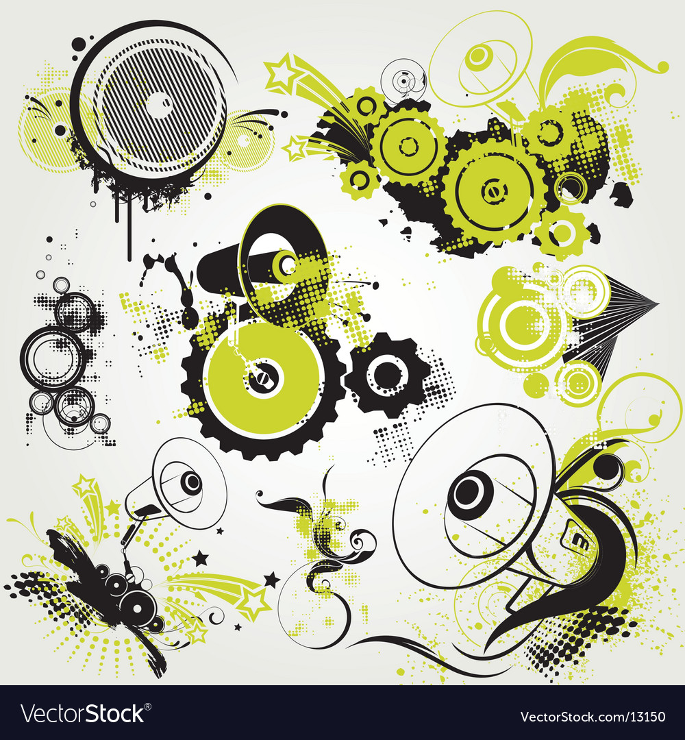 Graphic pack backgrounds vector image