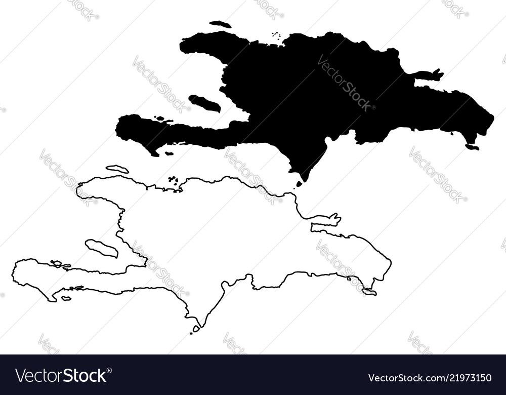 Hispaniola Map Royalty Free Vector Image Vectorstock