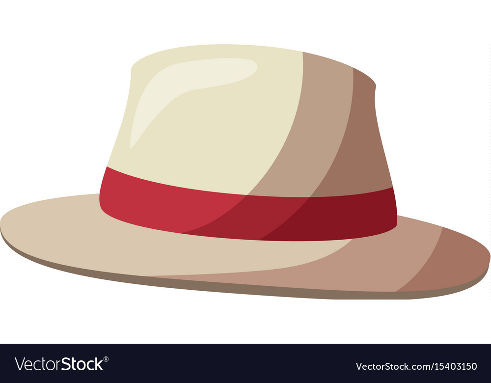 Isolated beach hat