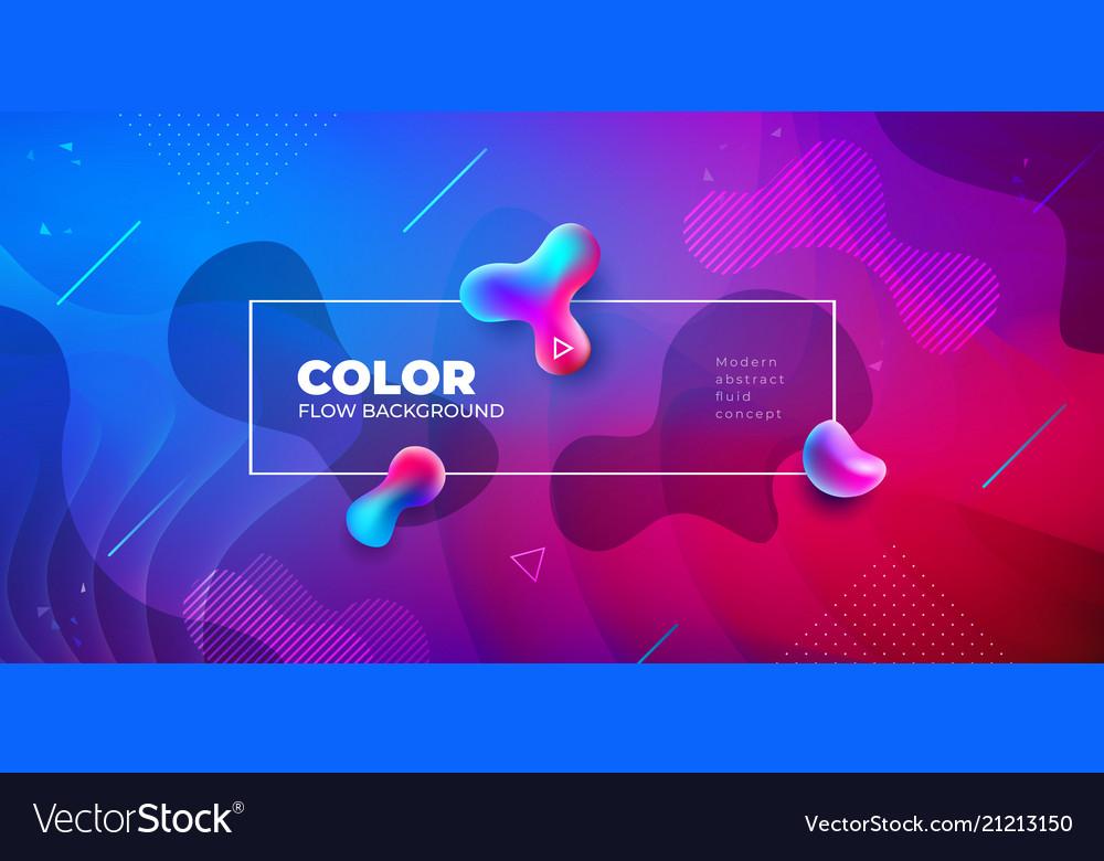 Liquid color background design fluid gradient