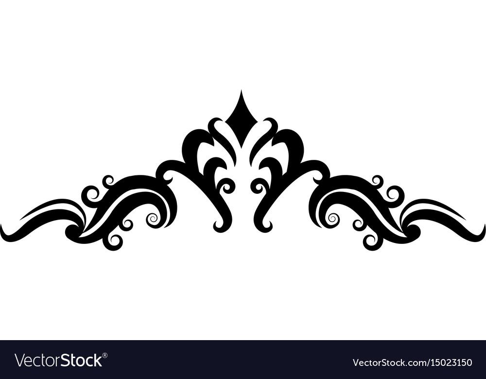 ornate floral corner and border heraldic classic vector image vectorstock