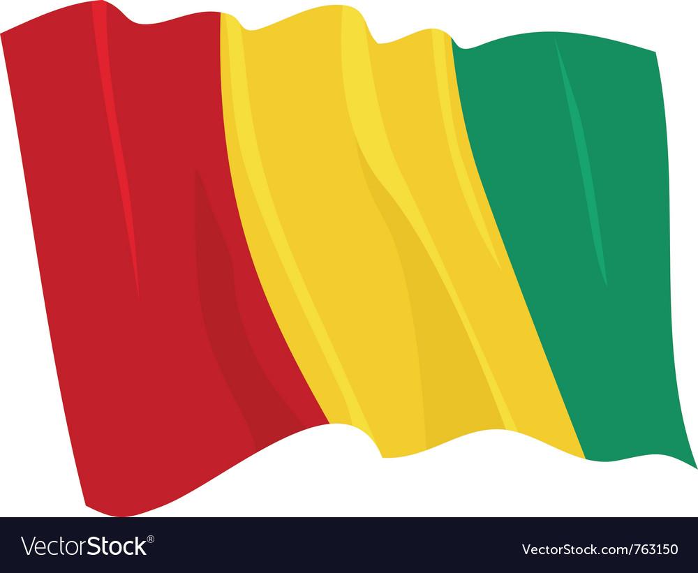 Political waving flag of guinea