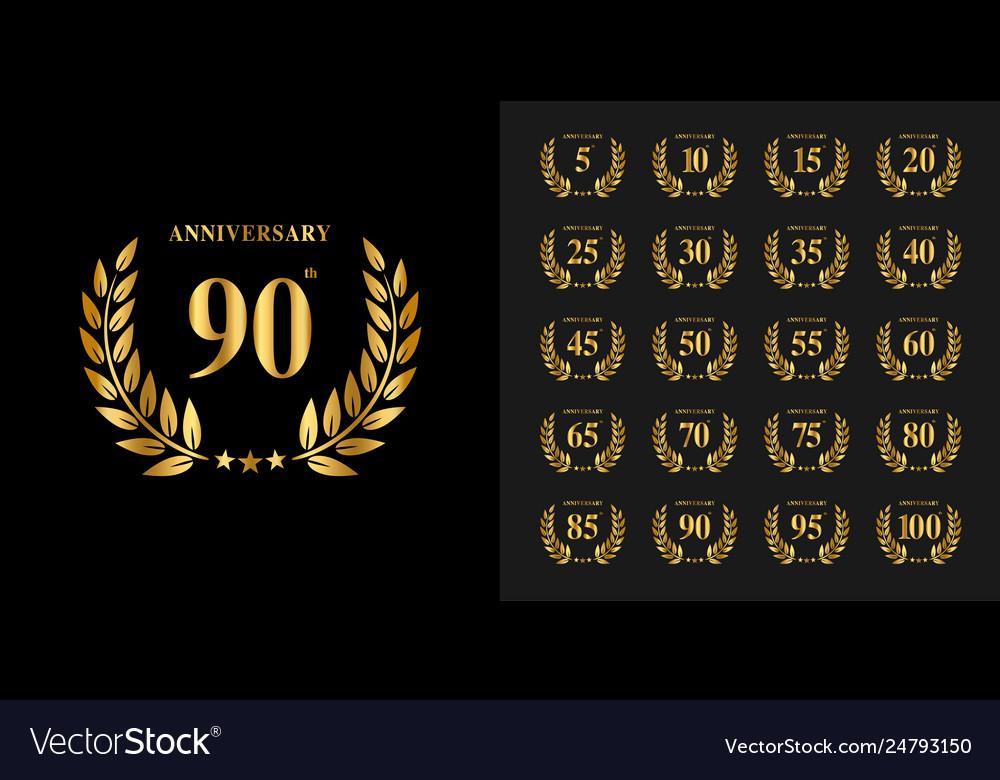 Set anniversary logotype golden anniversary
