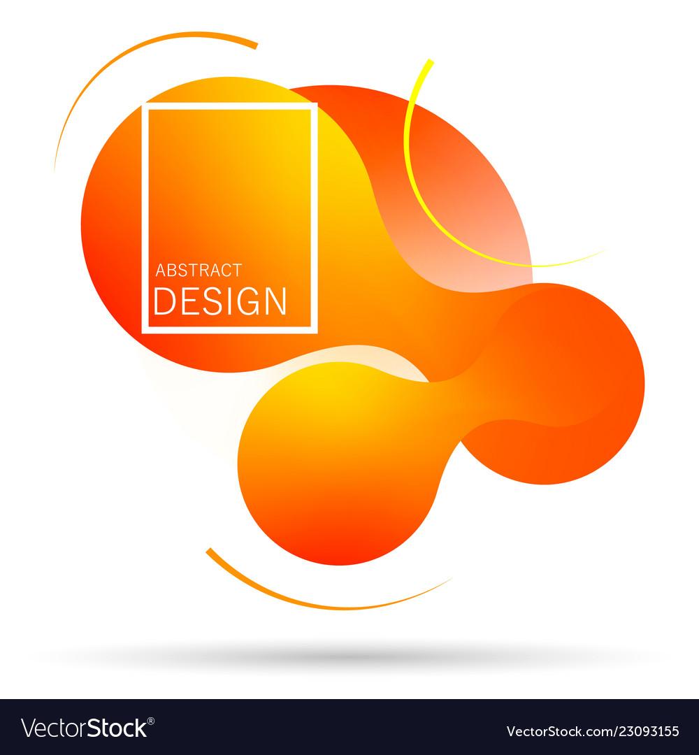 Abstract liquid shape gradient