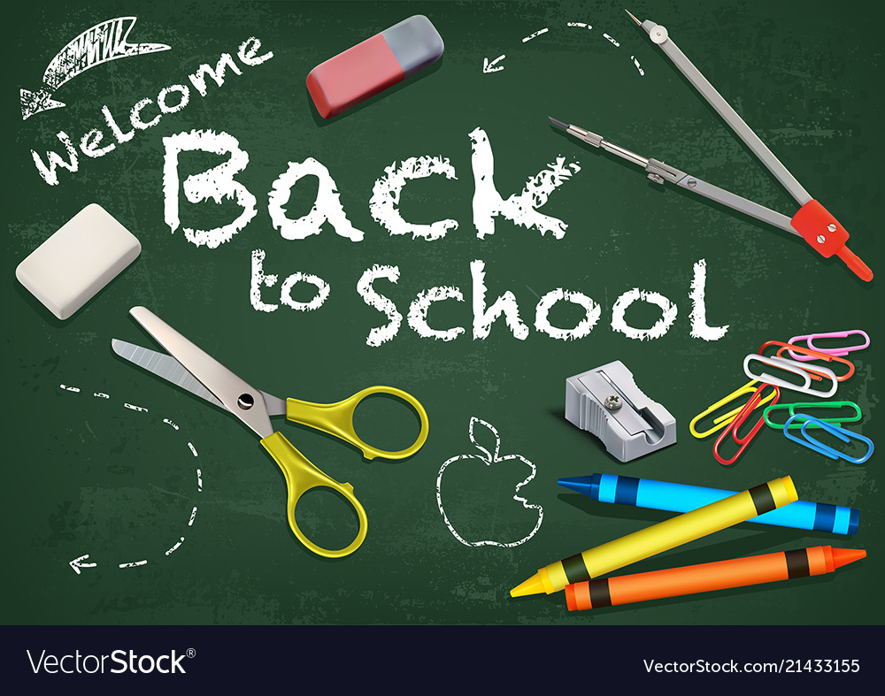 Background Welcome Back To School Royalty Free Vector Image
