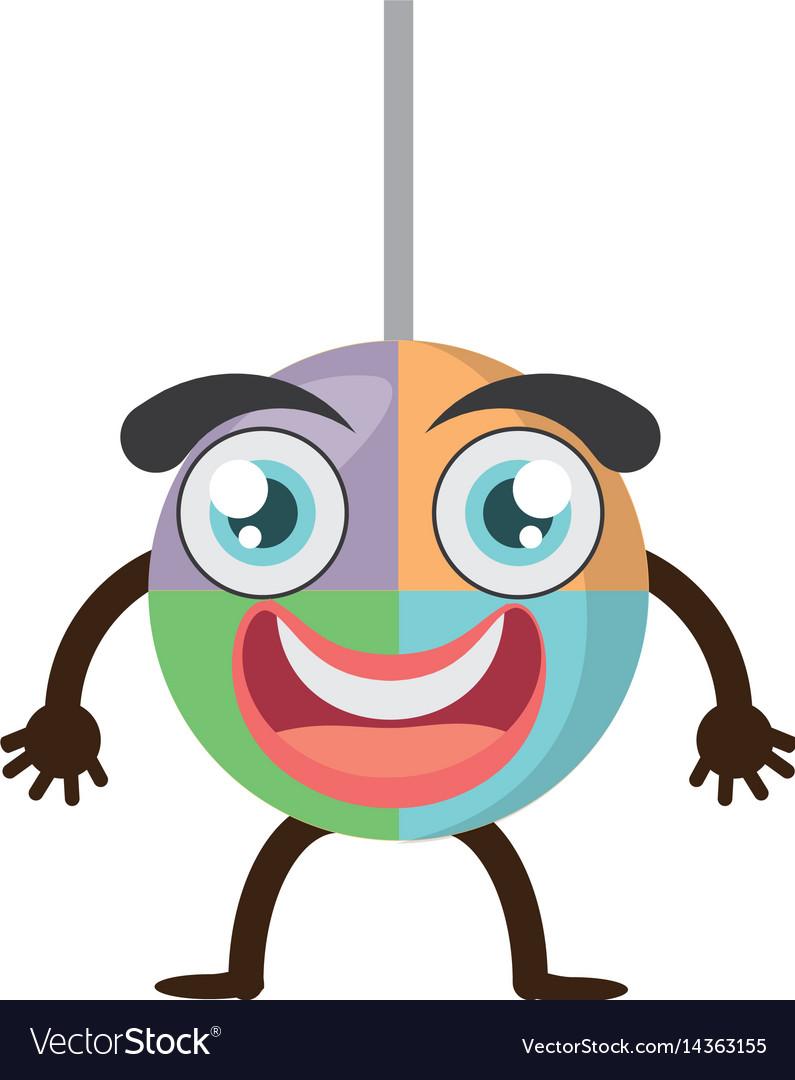 Cartoon lollipop sweet party vector image