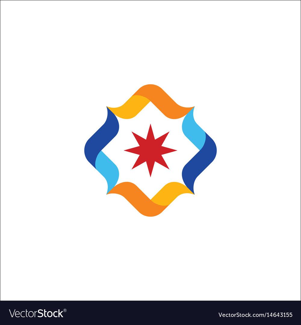 Circle star colored logo