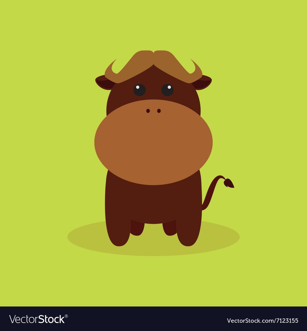 Cute Cartoon Buffalo