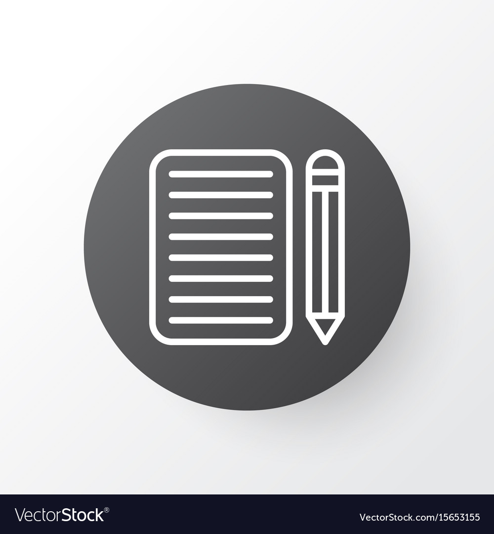 Essay writing icon symbol premium quality vector image