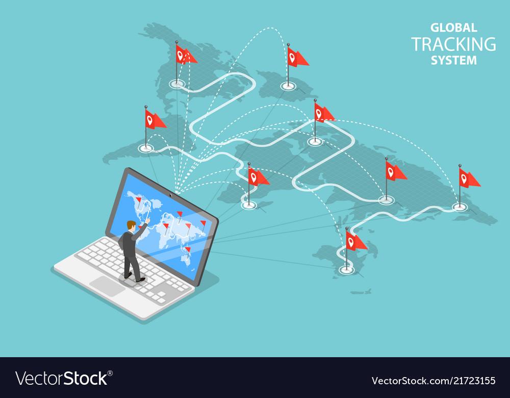 Global tracking system isometric flat