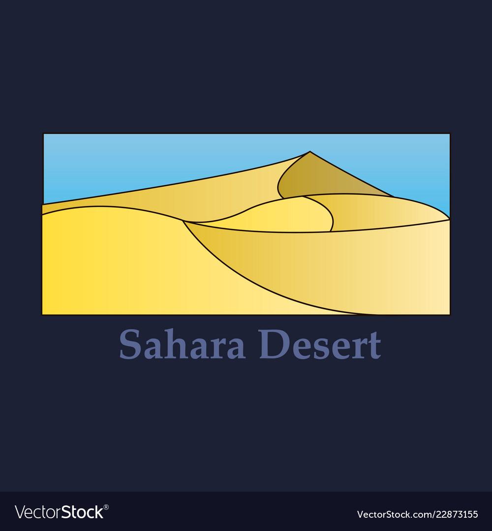 flat simple design of desert near ocean sea