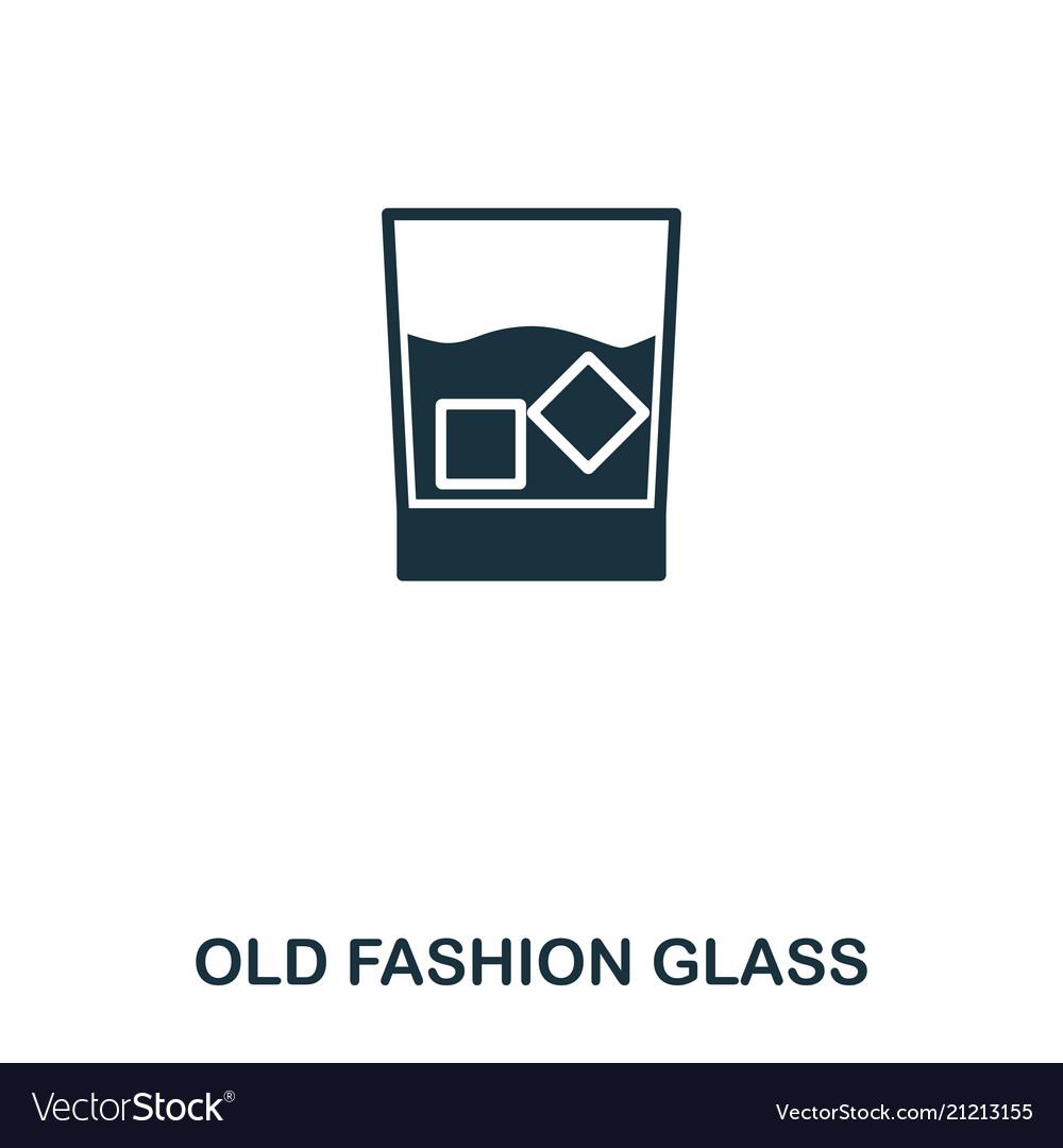 Old fashion glass icon line style icon design ui