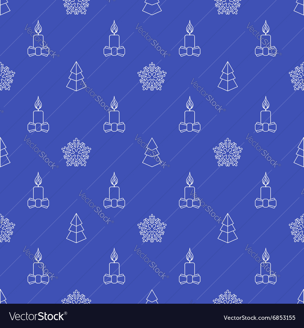Outline new year seamless pattern