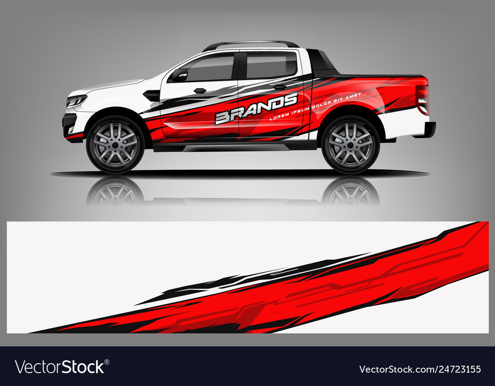 Truck wrap design for company