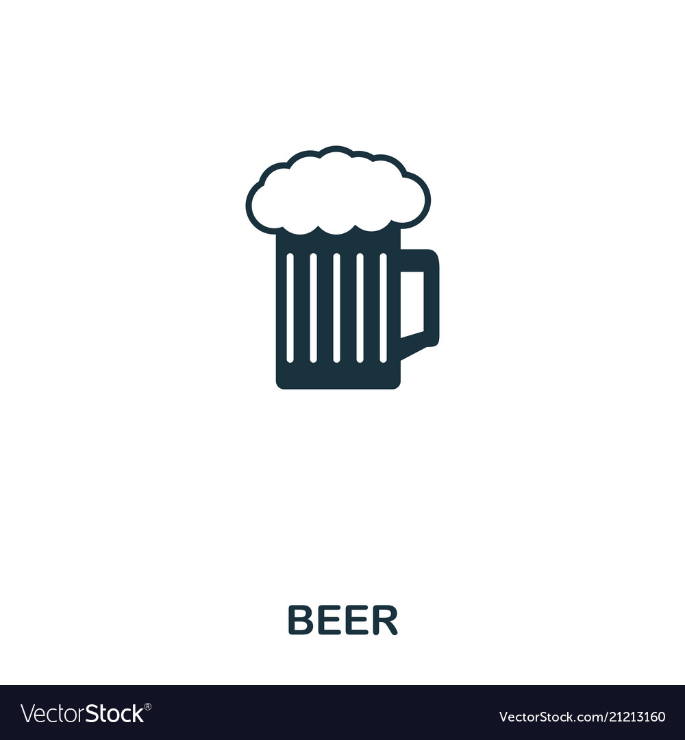Beer icon line style icon design ui