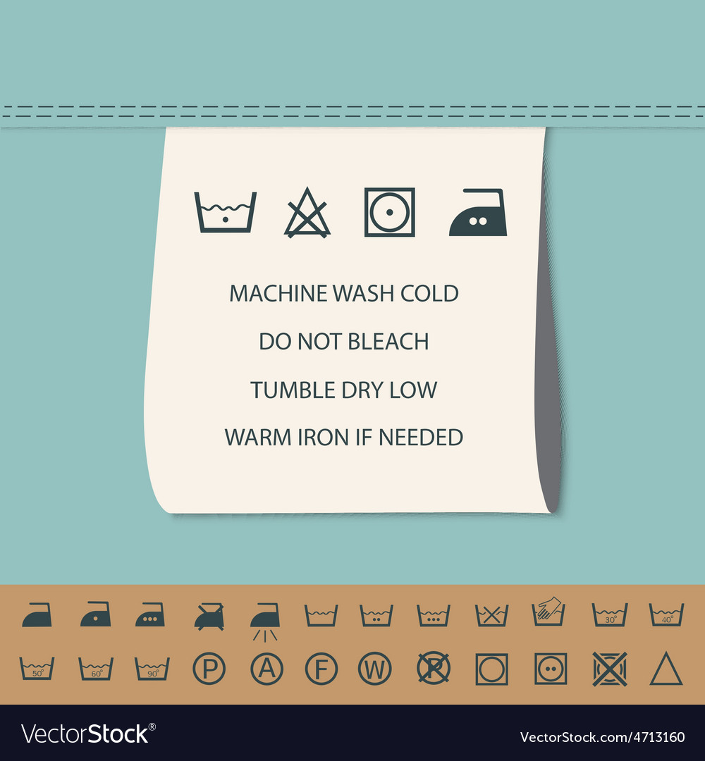 Clothing Label And Washing Symbol Royalty Free Vector Image