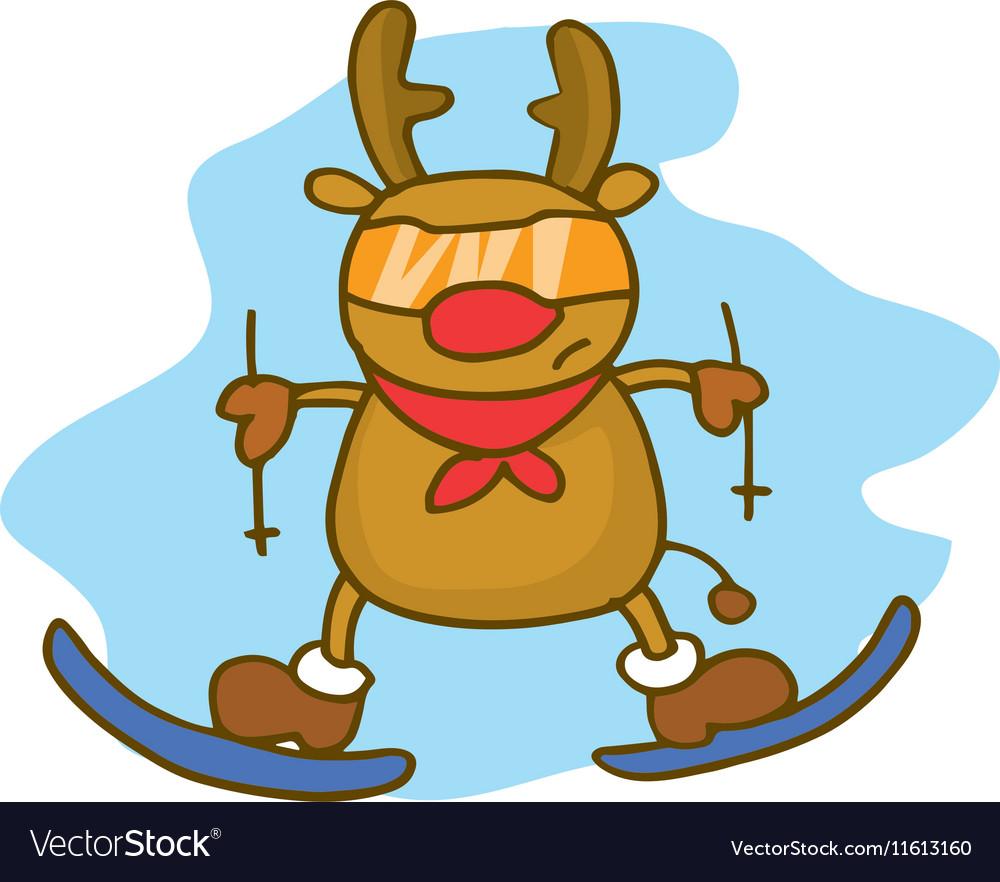 Deer Christmas theme collection stock