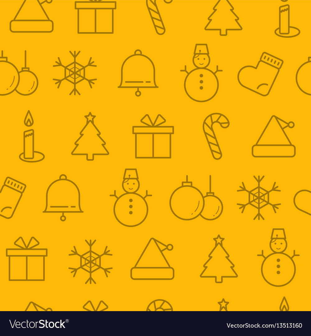 Different line style icons seamless pattern icons