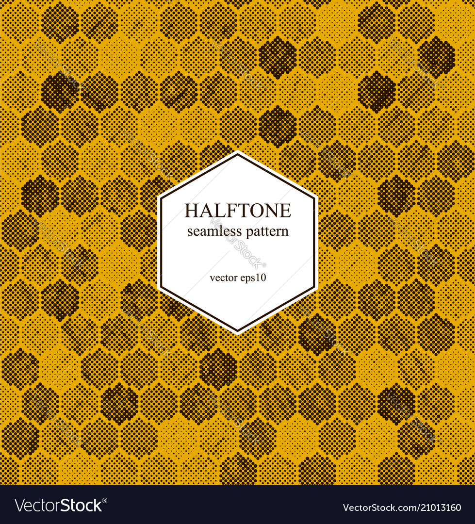 Halftone hexagon pattern
