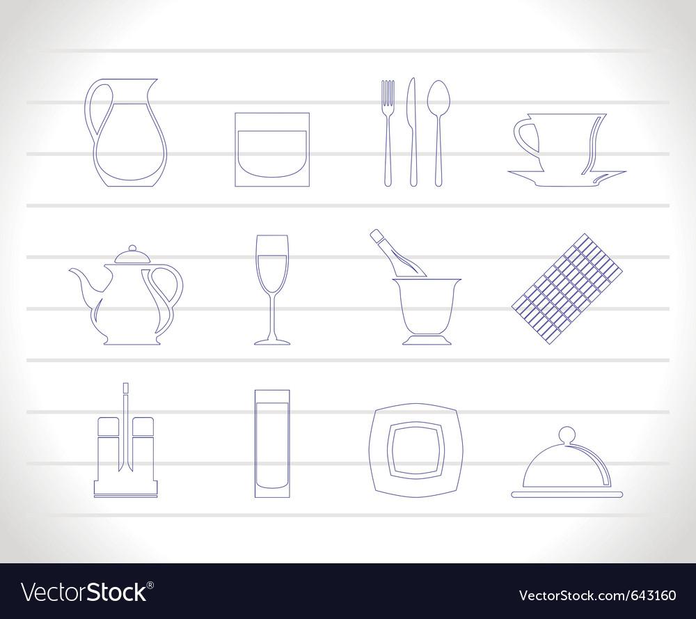 Restaurant club icons