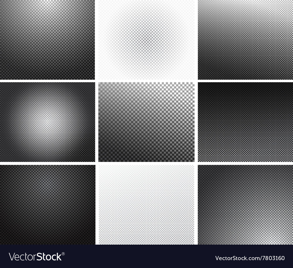 Set of transparency grid backgrounds