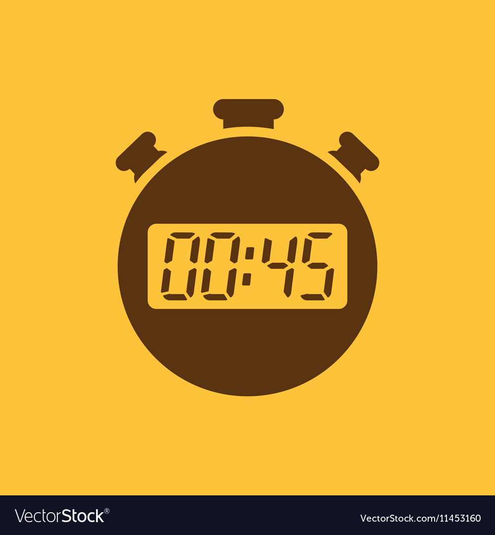 The 45 seconds minutes stopwatch icon Clock and