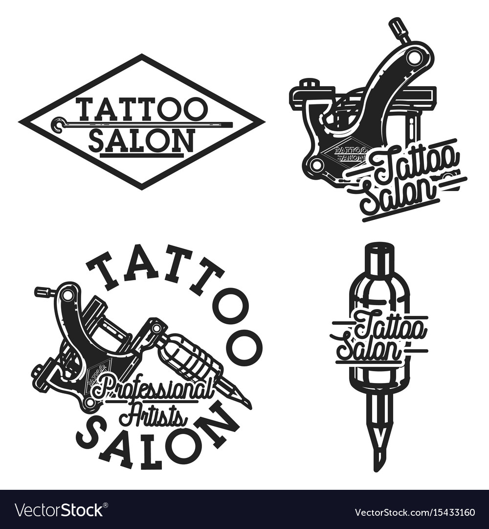 Vintage tattoo salon emblems