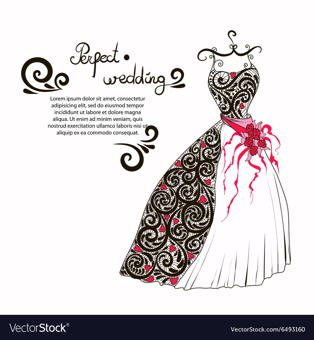 Wedding dress to decorate your