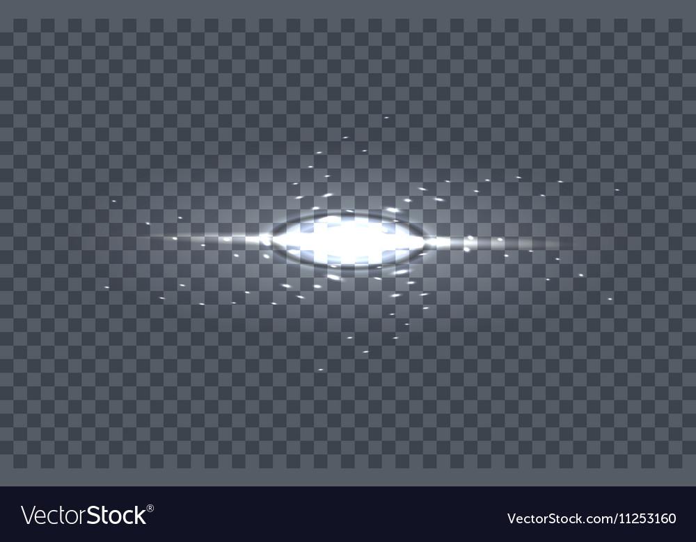 White Glowing Light Burst