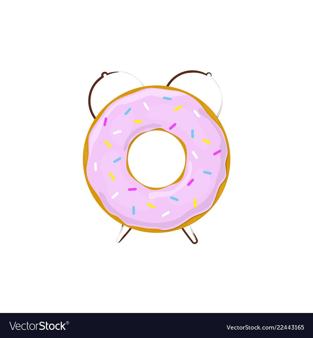 Alarm clock donut breakfast time