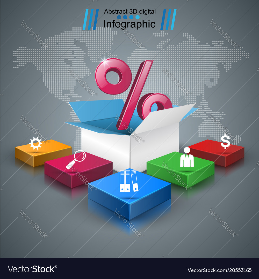 Business infographics percent icon
