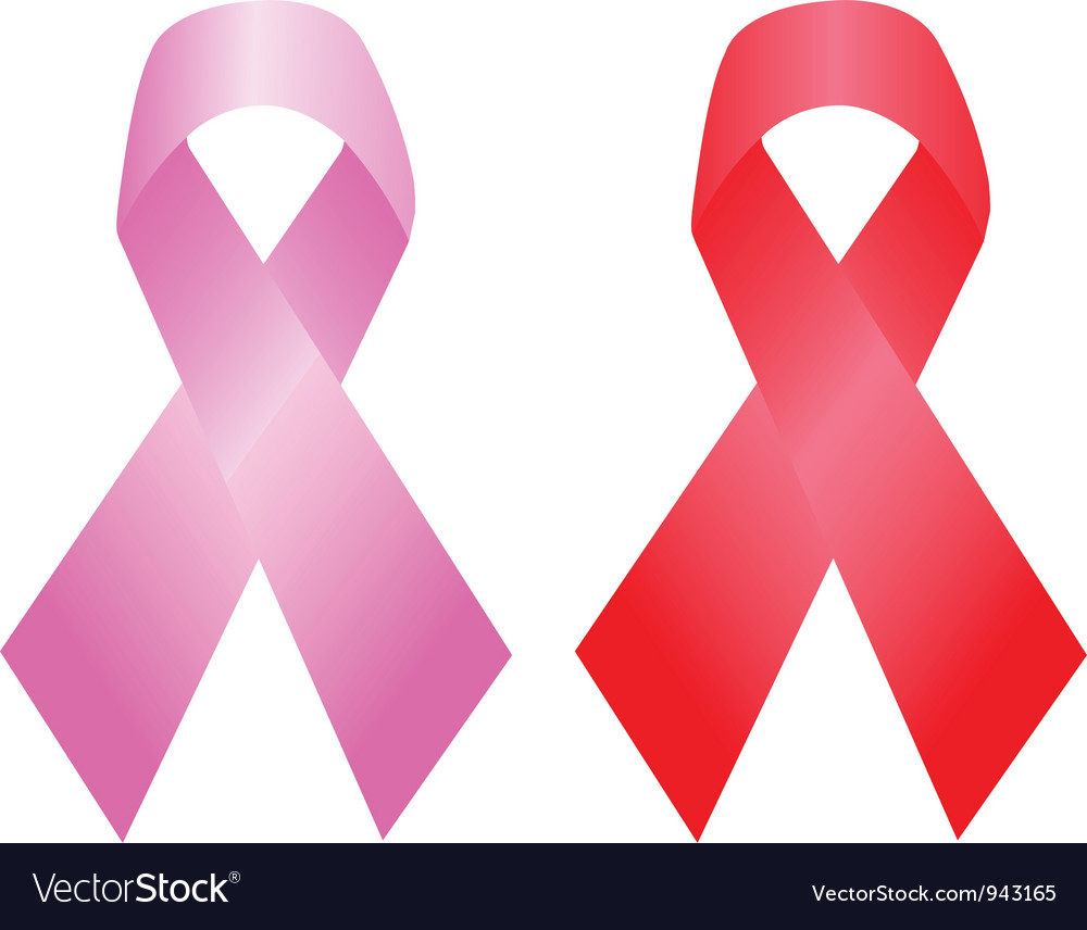 Cancer and aids awareness ribbon vector image