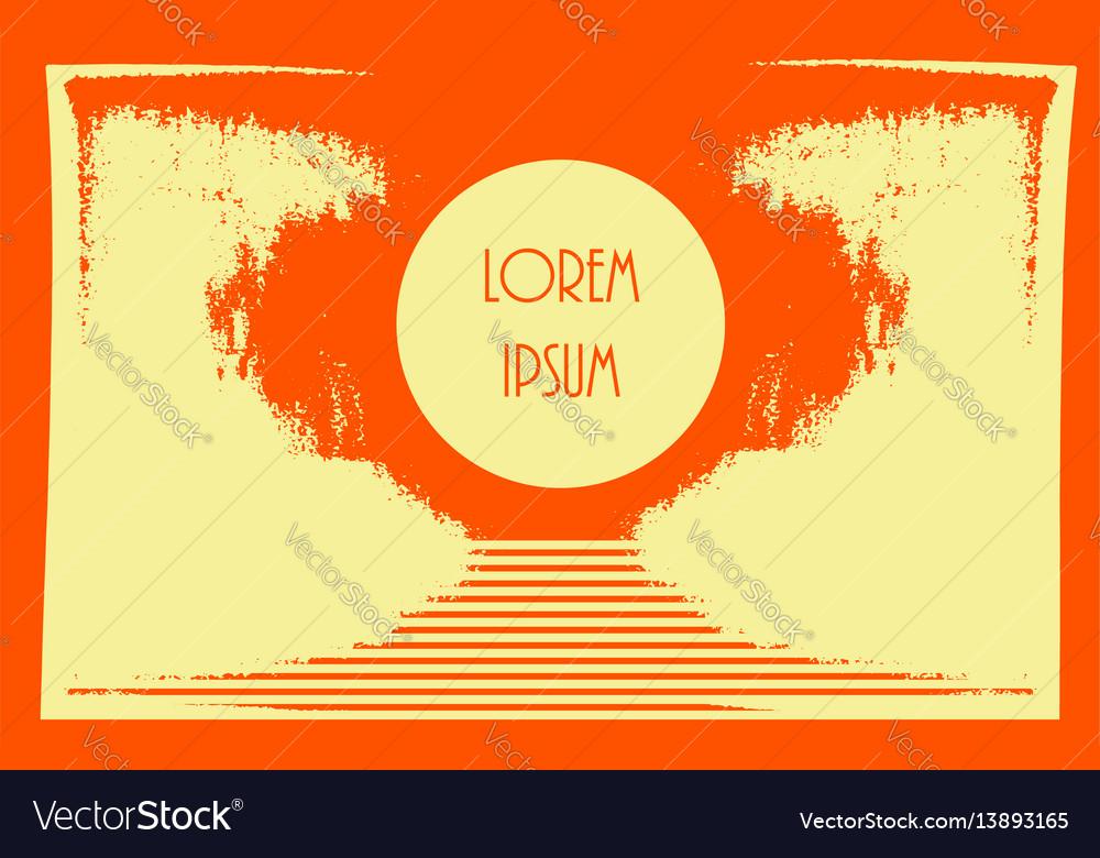 Creative grunge orange bright yellow texture vector image