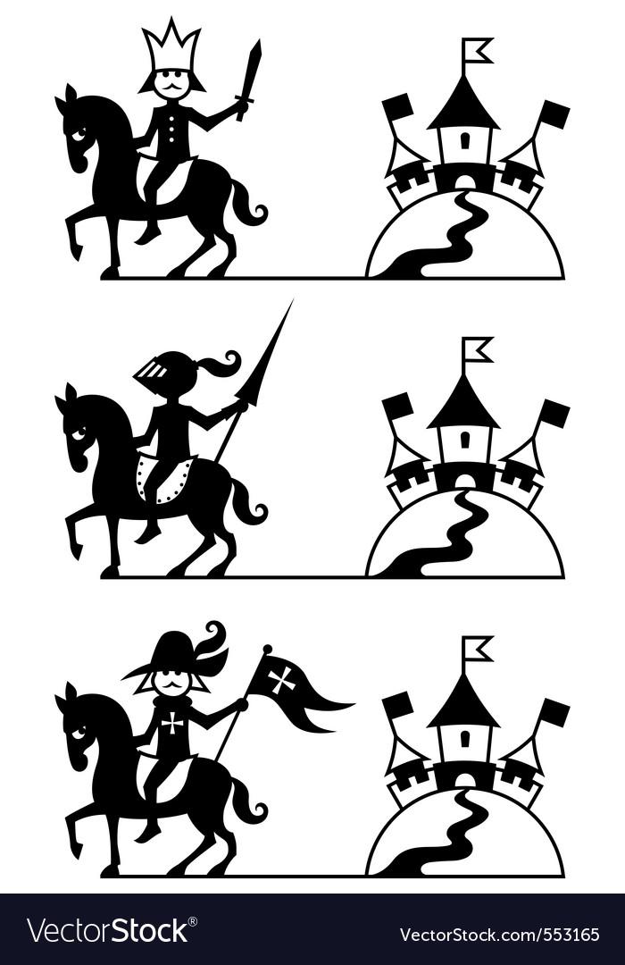 Riders vector image