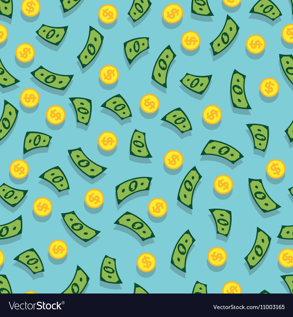 Seamless background with money