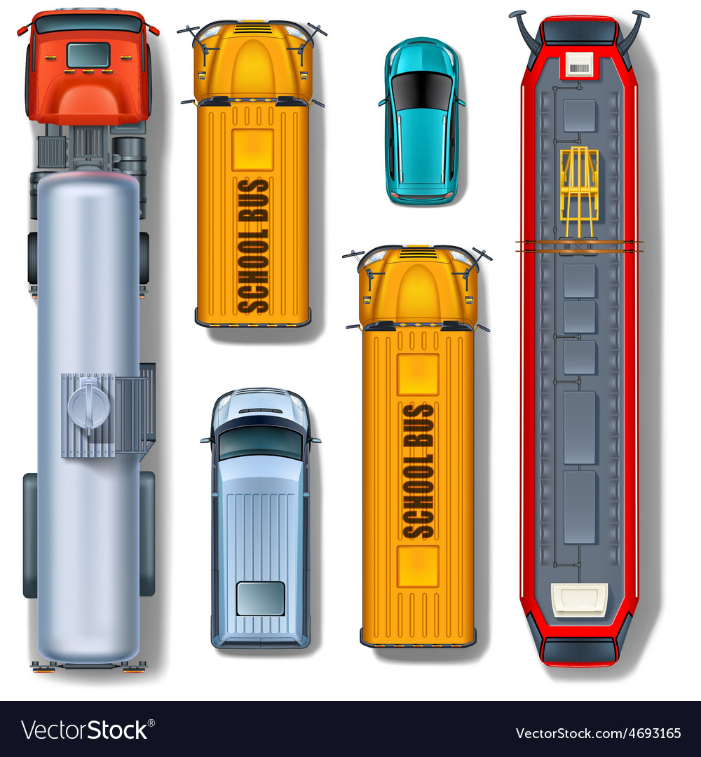 Transportation collection top view vector image