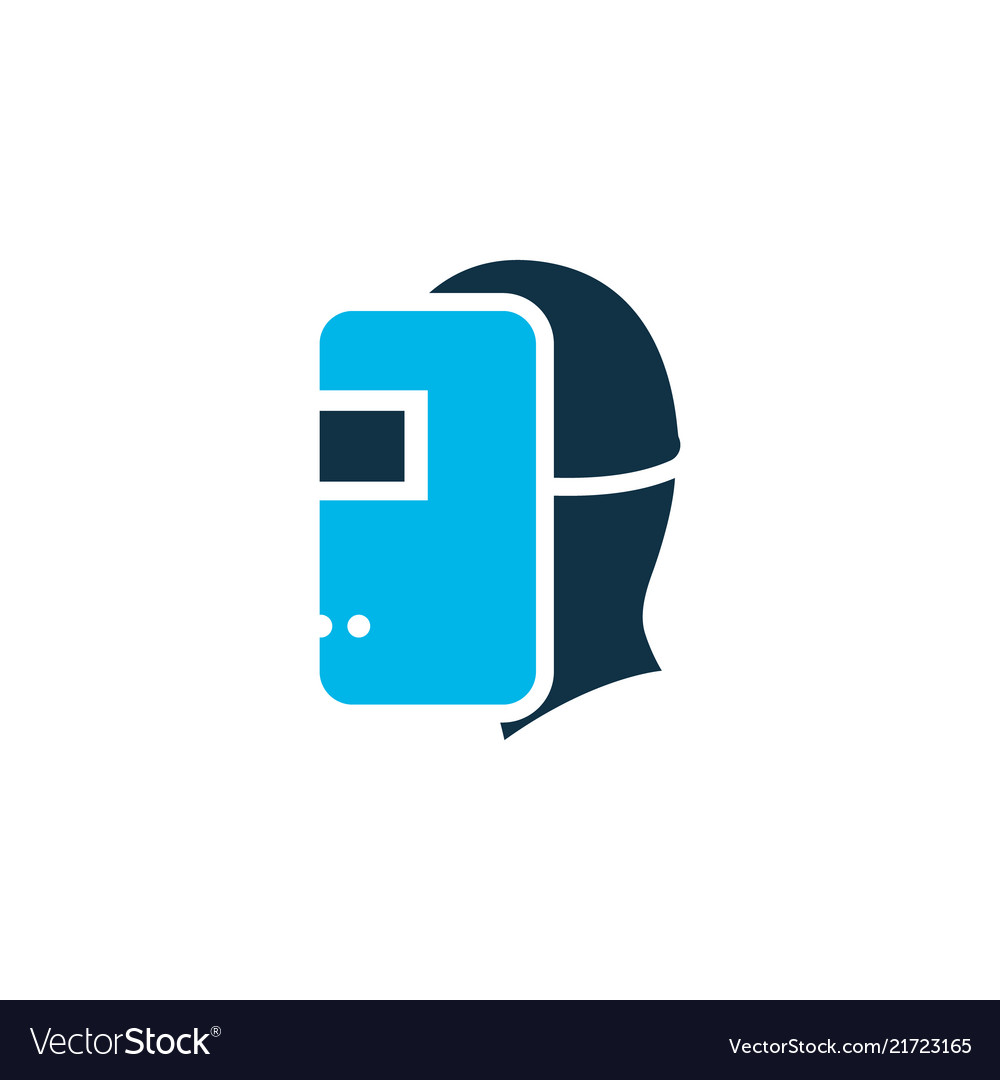 Welding mask icon colored symbol premium quality