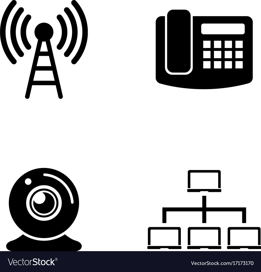 Communication simple related icons