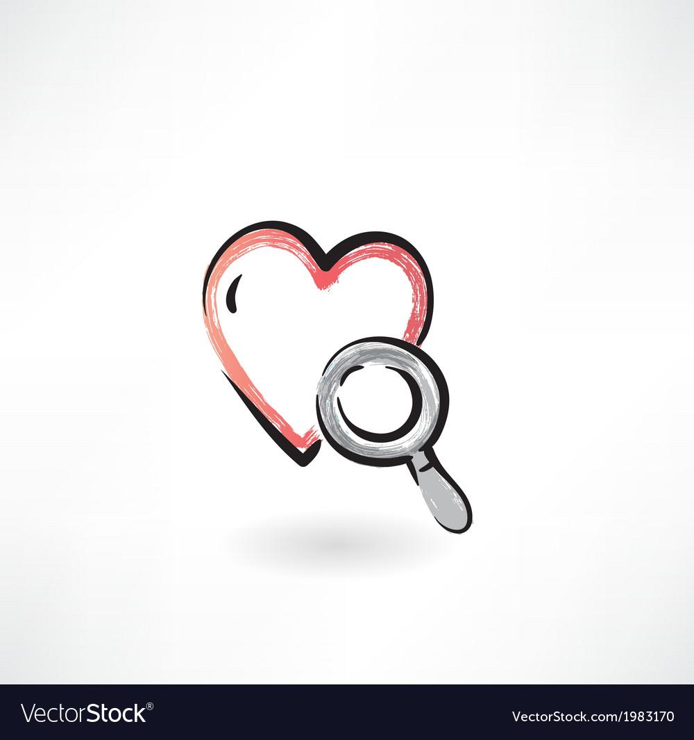 Heart Study grunge icon