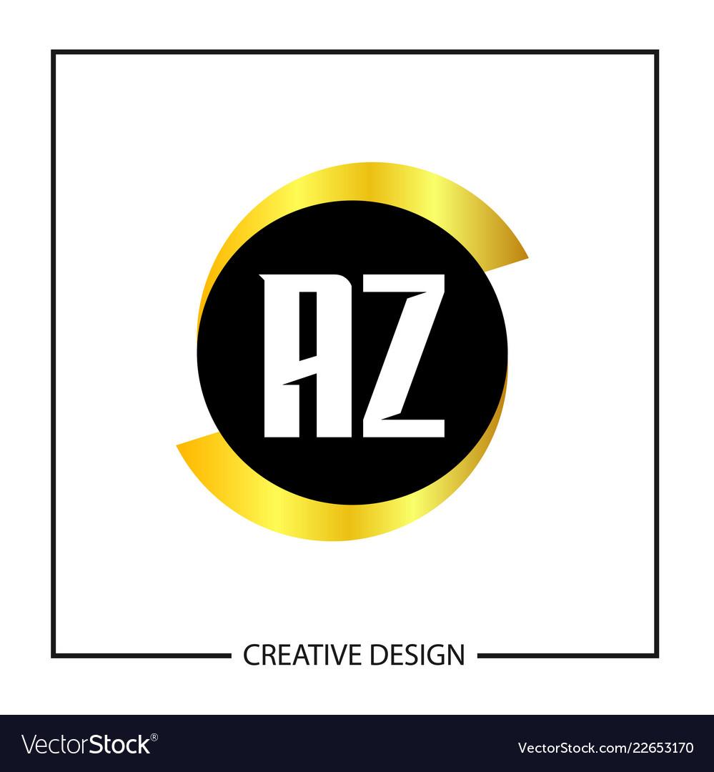 initial letter az logo template design royalty free vector
