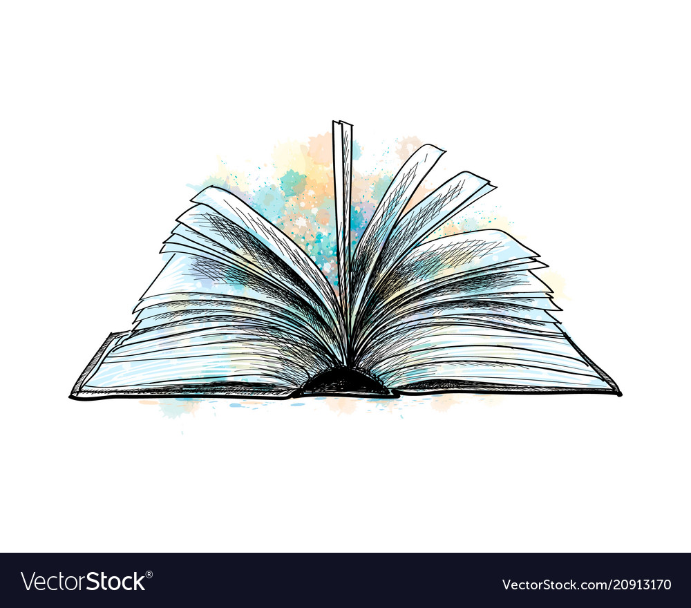 open book hand drawn sketch royalty free vector image