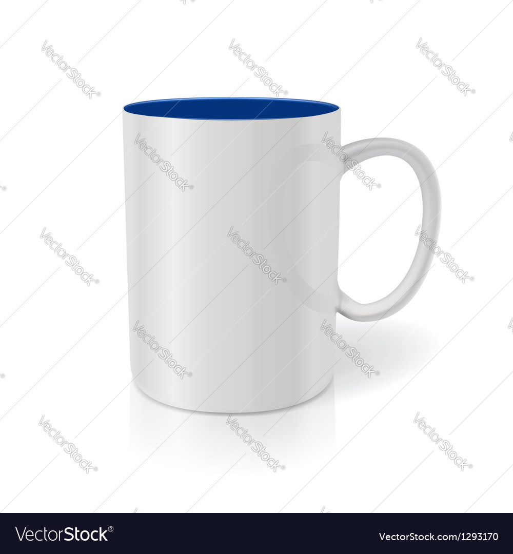 Photorealistic white cup Ready for your design vector image