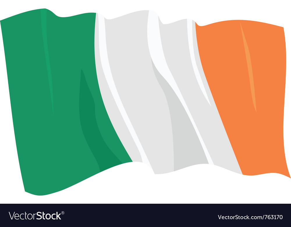 Political waving flag of ireland republic