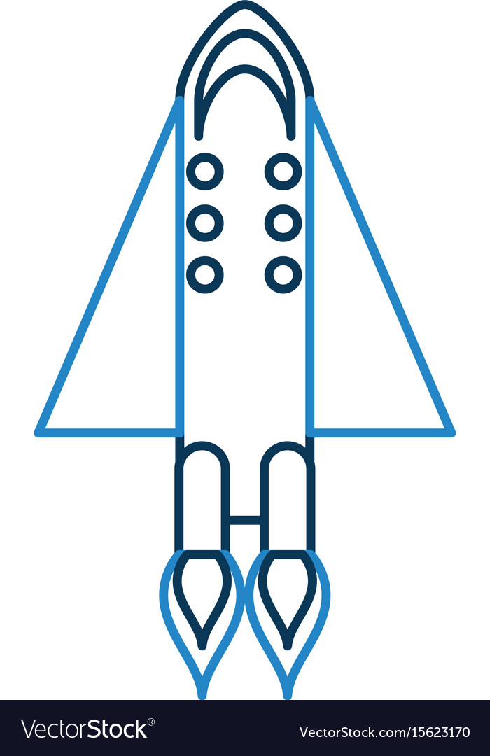 Rocket space isolated icon