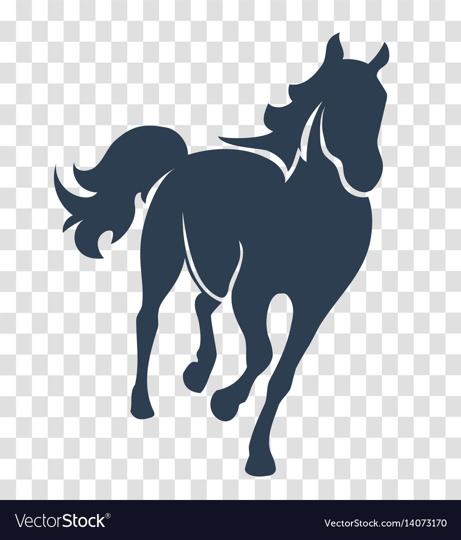 Silhouette horse black vector image
