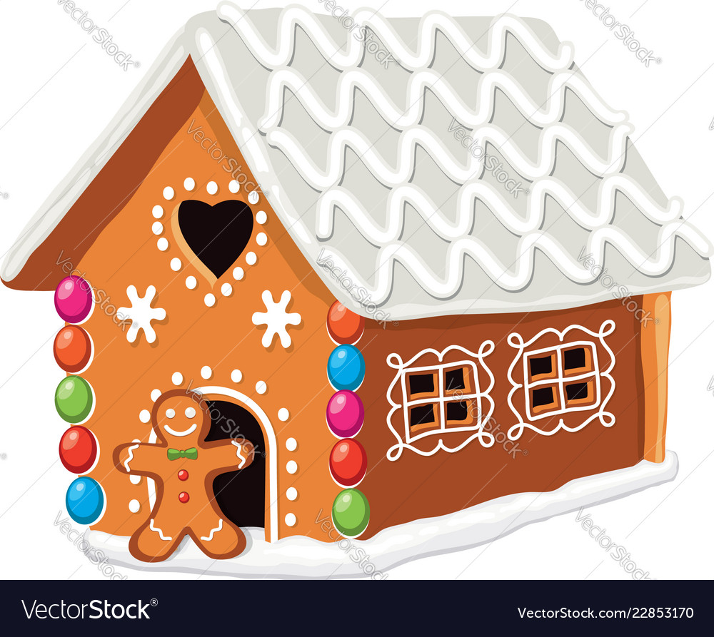 Xmas colorful gingerbread house