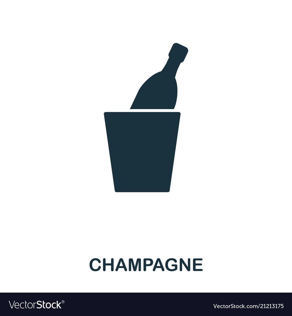 Champagne icon line style icon design ui