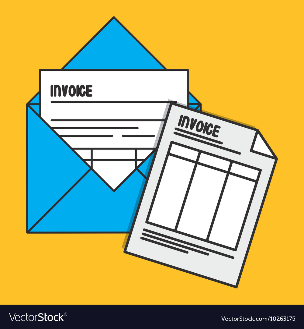 envelope document paper invoice payment icon vector image