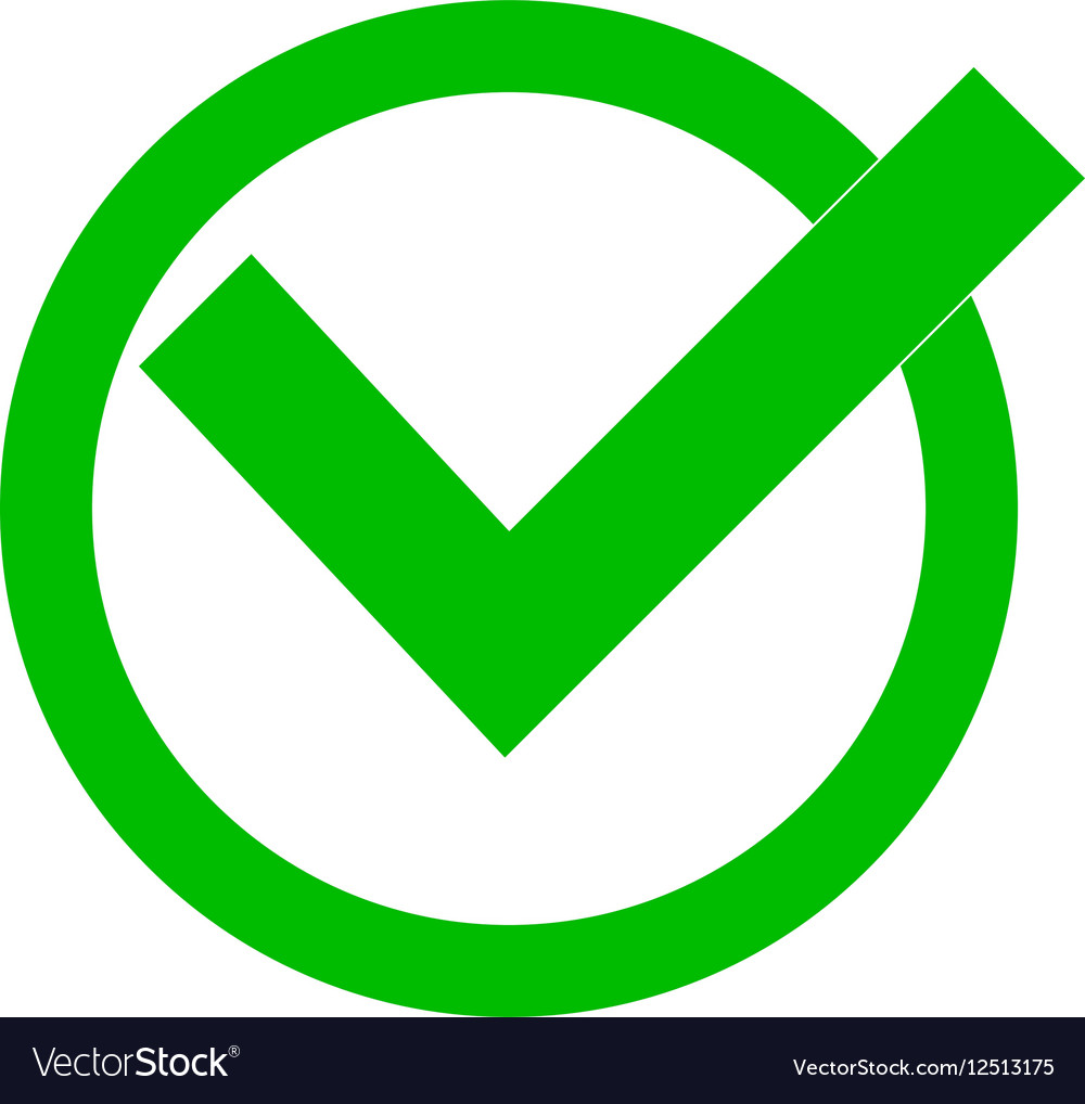 Green check mark Royalty Free Vector Image - VectorStock on ✔  id=90365