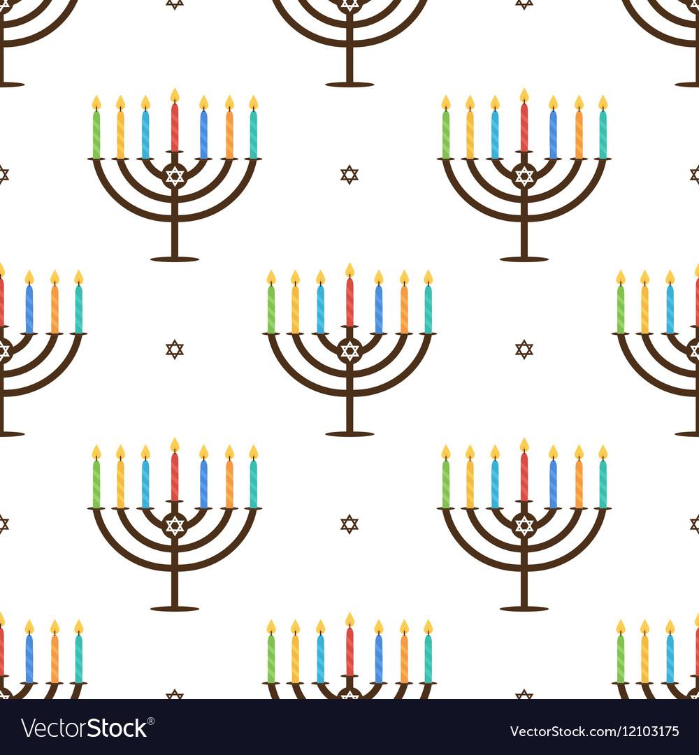 Hanukkah holiday seamless pattern background vector image